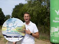 Budowa sieci tras rowerowych Pomorza Zachodniego - Trasa Zielonego Pogranicza odc. Gryfino - Trzcińsko Zdrój